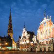 Central square of Riga, Latvia. - ストック写真
