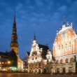 Central square of Riga, Latvia. - Stock Photo
