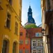 Riga old town street — Stock Photo
