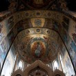 The Church of Our Savior on the Spilled Blood interior panorama. - Stock Photo