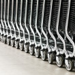 Row of shopping carts — Stock Photo #11440482