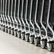 Row of shopping carts — Stock Photo