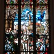 Stained glass from Riga carhedral - Stock Photo