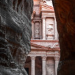 Treasury (al-khazneh), Petra, Jordan — Stock Photo