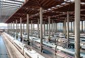 Madrid train station. — Stock Photo