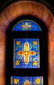 Mozaik kilise pencere — Stok fotoğraf