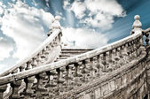 Ancient stairs up to the sky — Stock Photo
