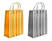 Orange and black and white packets — Stock Photo