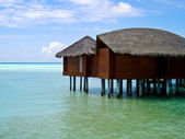 Overwater bungalow — Stock Photo