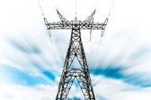 Power grid pylon — Stock fotografie