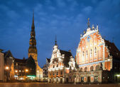 Central square of Riga, Latvia. — Stock Photo