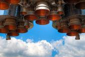 Space rocket engine — Stock Photo
