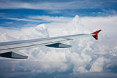 View from the airplane's window — Stock Photo