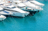 Yachts in port — Stockfoto
