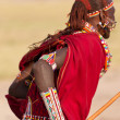 Back view of Tribesman Kenya, Africa — Stock Photo
