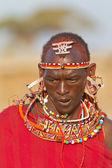 Portrét z kmene keni, afrika — Stock fotografie
