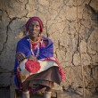 Portrait of Tribeswoman Kenya, Africa — Stock Photo