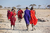 Masai warriors , kenya — 图库照片