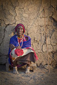 Portrait of Tribeswoman Kenya, Africa — Foto Stock