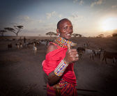 Masai warriors , kenya — Stock Photo