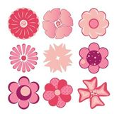 A collection of flowers for the design — Stock Vector