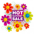 Hot summer sale — Stock Photo