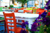 Atmospherics colorful restaurant — Stockfoto