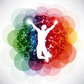 Sport colorful winner — Stock Vector