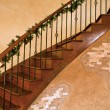 Stock Photo: Stair with christmas decoration