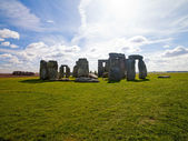 Panoramic view of stonehenge — Stock Photo