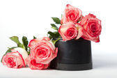 Pink Roses Piled on Pot — Stock Photo
