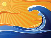 Tidal wave — Stock Photo