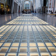 Stock Photo: View of glass floor and and steel structure