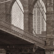 Vintage photo of the brooklyn bridge — Stock Photo #11739236