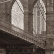 Stock Photo: Vintage photo of the brooklyn bridge