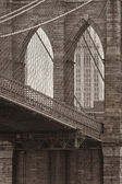 Vintage photo of the brooklyn bridge — Stock Photo
