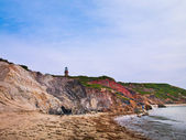 Lighthouse on the beach — Foto Stock