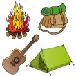 Camping objects collection 1 — Stock Vector #11419352