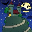 Stock Vector: Castle by night