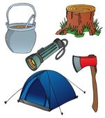 Camping objects collection 2 — Stock Vector