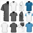 Polo-shirt design template — Vettoriali Stock