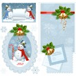 Royalty-Free Stock Vector Image: Christmas postcards