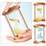 Vector sand clock (hourglass) — Stock Vector