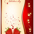 Vector holiday background. Valentine's day. — Stock Vector