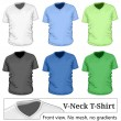 Men's v-neck t-shirt design template — Stock Vector