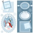 Stock Vector: Set of Christmas frames with copy space