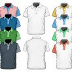 Men's polo-shirt design template. — Stock Vector