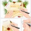 Letter to Santa Claus — Vector de stock
