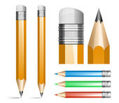 Ilustración vectorial de lápices — Vector de stock