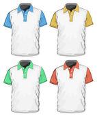 Polo-shirt de modèle de conception des hommes. — Vecteur